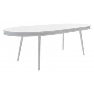 Hugo ovalt matbord - Vit/Vit - Vita ben
