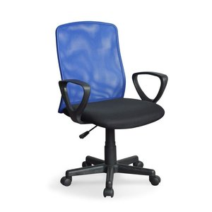 Alex skrivbordsstol - Svart/blå