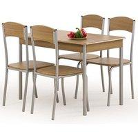Domino Matgrupp i Valnöt - Bord inklusive 4 st stolar