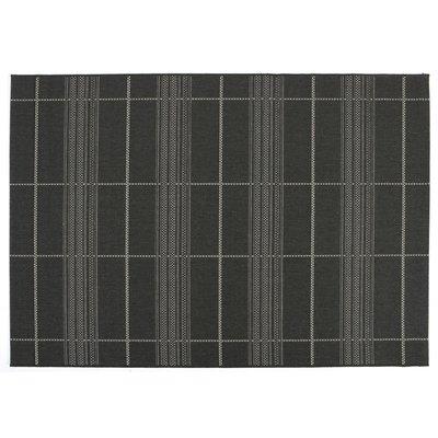 Slätvävd matta svart