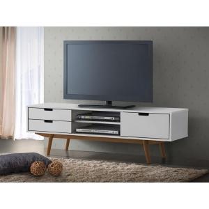 Sarek Tv-bänk - Vit/Ek