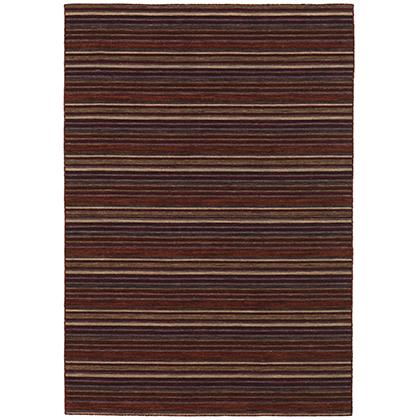 Handvävd matta - Himalaya - Röd - Ull