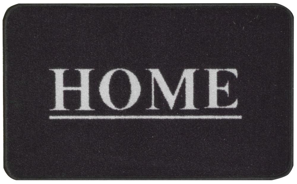 Dörrmatta Home - gummerad - Grå/Svart - 45x75 cm