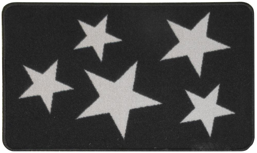 Dörrmatta Star - Gummerad - Grå/Svart - 45x75 cm