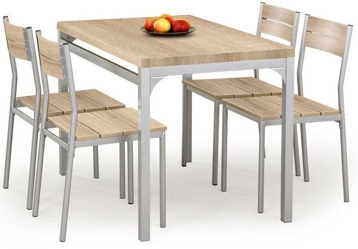 Myrsjö Matgrupp i Ljus ek - Bord inklusive 4 st stolar