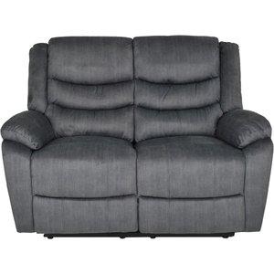 Ulmer 2-sits reclinersoffa - Mörkgrå