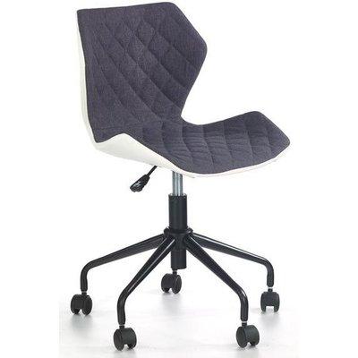 Albana skrivbordsstol - Vit/grå