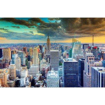 Glastavla New York - 120x80 cm