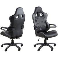 Gamer F430 skrivbordsstol - Svart/grå