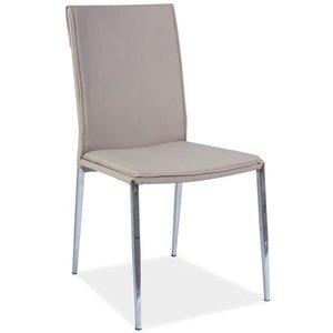 Peyton stol - Cappuccino/krom