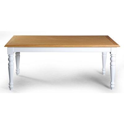 Vadstena matbord 140 cm - Vit/Ek