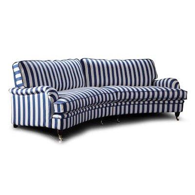 Howard Luxor svängd 5-sits soffa - Valfri färg!