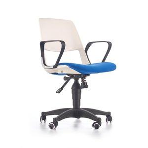 Thorvald kontorsstol - Vit/blå