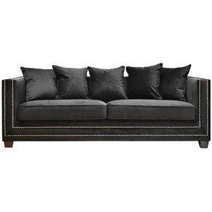 Cloude 3-sits soffa - Svart (Sammet) / Nitar