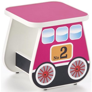 Tuffe barnbord 31x31 cm - Rosa
