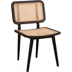 Siknäs stol - Svart mahogny/rotting