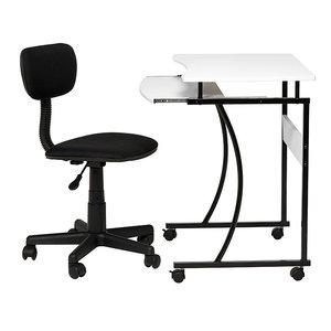 Mix datorbord med stol - vit/svart