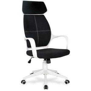 Lilyana kontorsstol - Vit/svart