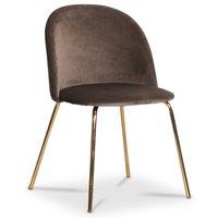 Giovani velvet stol - Mullvadsbrun/Mässing