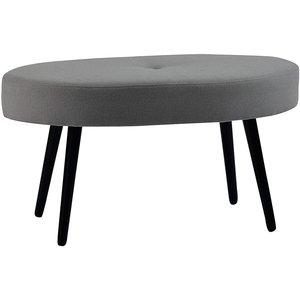 Candy oval pall 90 cm - Grå/svart