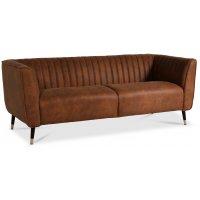 Erik 3-sits soffa - Cognac / Mässing
