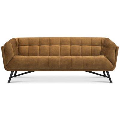 Troels Lulu 3-sits soffa - Guld sammet