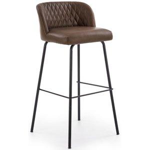 Orville barstol - Mörkbrun vintage (PU)