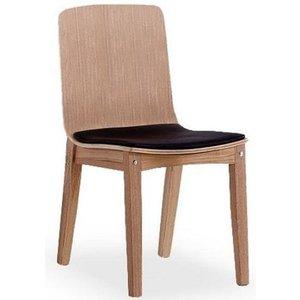 Nesto matstol - Ljus Ek/Svart Eco läder