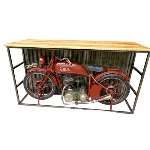 Gullier barbord motorcykel - Metall/mango