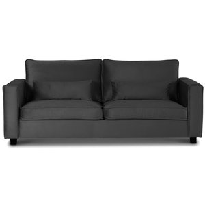 Adore Loungesoffa 3-sits soffa - Silvergrå (sammet)