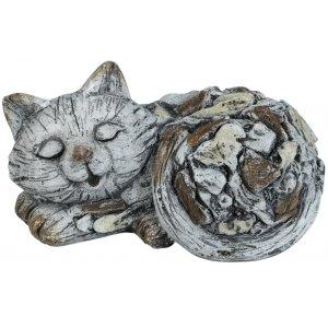 Trädgårdskonst sovande katt - L33 cm