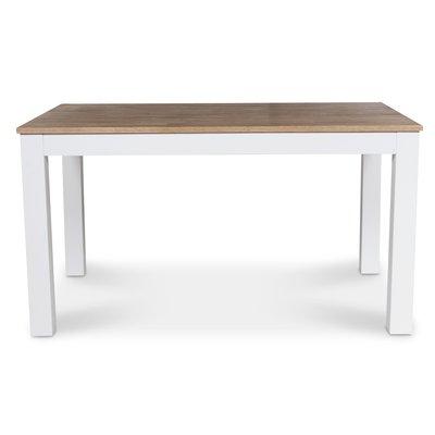 Dalarö matbord 140 cm - vit / oljad ek