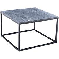 Accent soffbord 75 - Grå marmor / Svart underrede