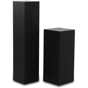 Piedestal LineDesign wood 60 cm - Svart
