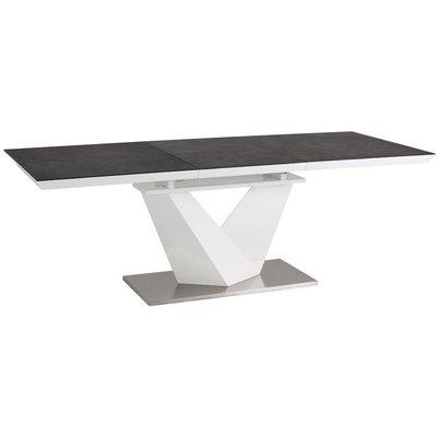 Matbord Taylor 140-200 cm - Vit/svart
