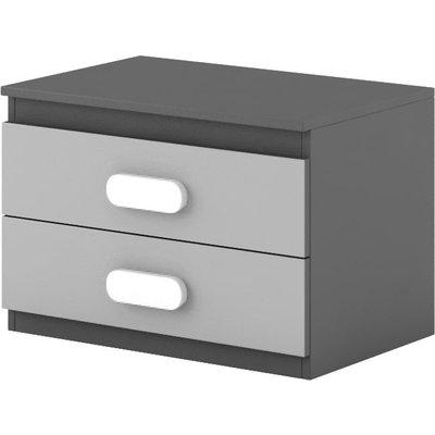 Pauline sängbord - Graphite/grå