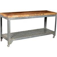 Hannover  - Rullbord (massivträ & zinkat stål)