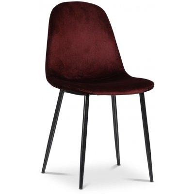 Carisma stol - Bordeaux (sammet)