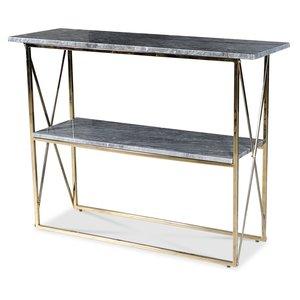 Paladium konsolbord - Mässing / Äkta grå marmor