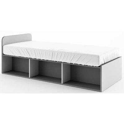 Arden säng 90x200 cm - Graphite/grå