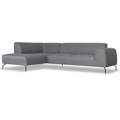 Corona soffa med öppet avslut (vänster) - Grå (Tyg)