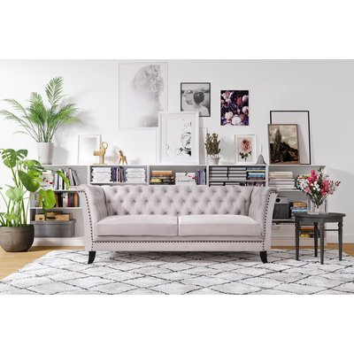 Milton Chesterfield 3-sits soffa - Valfri färg!