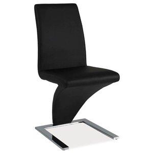 Skyler stol - Svart/krom