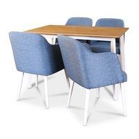 Sarek matgrupp - Bord inklusive 4 st stolar - Ek