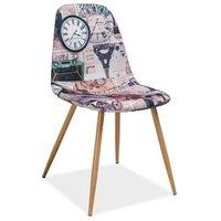 Guadalupe stol - Metall/Parismönster