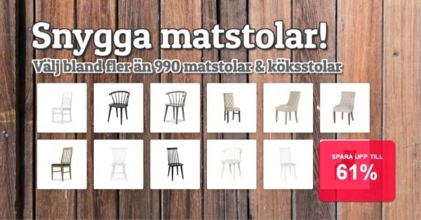Massor av matstolar - Trend - Vintage - Moderna - Superpriser!