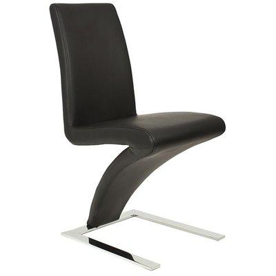 Zion Curve stol - Svart Pu / Krom