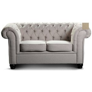 Chesterfield York 2-sits soffa - Beige