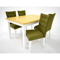 Ramnäs matgrupp - Bord inklusive 4 st Crocket stolar - Vit/ek