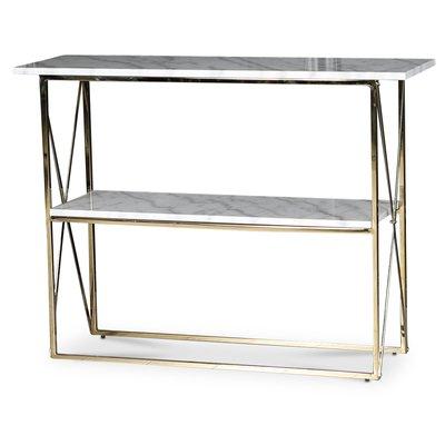 Paladium konsolbord - Mässing / Äkta ljus marmor